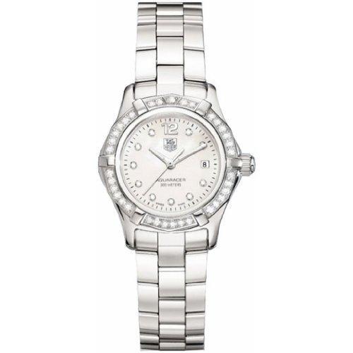 (TAG Heuer Women's WAF1416.BA0824 Aquaracer Swiss-Quartz Diamond Mother-Of-Pearl Dial)