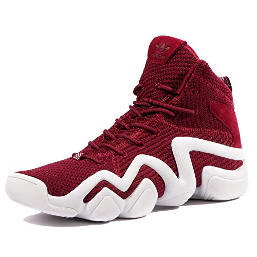(adidas Crazy 8 PK ADV Mens Basketball Trainers Sneakers (UK 8 US 8.5 EU 42, Burgundy White BY4366))