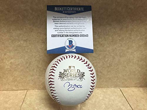 (Yadier Molina Cardinals Autographed Signed Memorabilia 2011 World Series Baseball - Beckett Authentic)