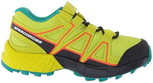 Salomon Unisex-Kinder Speedcross Bungee K Traillaufschuhe, Gelb, 30 EU Grün (Acid Lime/Night Sky/Scarlet Ibis 000)
