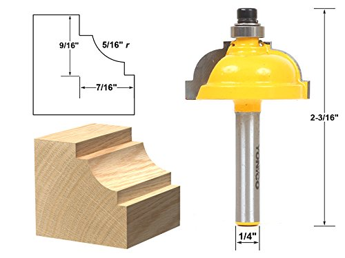 Yonico 13181q Classical Cove Edging Router Bit with 516 Radius and 14 Shank