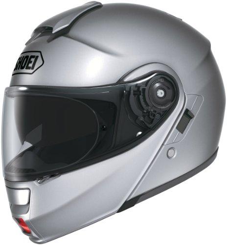 Shoei Metallic Neotec Road Race Street Helmet - Large,Light Silver