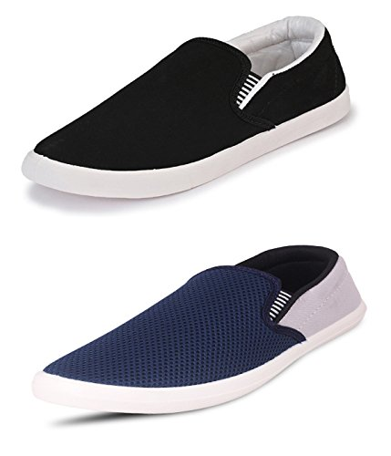4ca40becb7a81 SCATCHITE Combo Pack of 2 Trendy Premium Canvas Loafers(FREE DELIVERY)