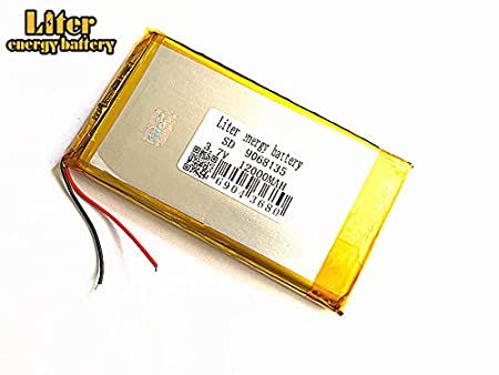 3.7V 12000mAh 9068135 Lithium Polymer Ion Rechargeable Battery Lithium Polymer Li-Po Battery for MP4 GPS MP3 Bluetooth Stereo DIY Gift