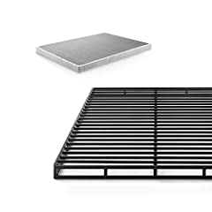 Enjoy the strong support and convenience of the new 4 inch low profile quick lock smart box spring by Zinus. Offers the look and functionality of a traditional box spring, but made from steel for longer-lasting durability. Compact packaging a...