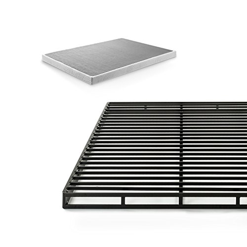 Zinus 4 Inch Low Profile Quick Lock Smart Box Spring / Mattress Foundation / Strong Steel Structure / Easy Assembly, Queen - Spring Box