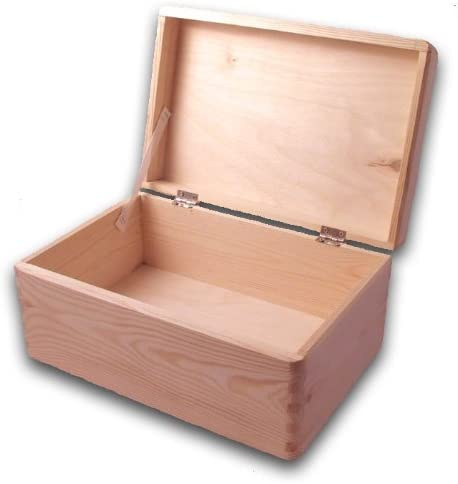 6 x Caja de madera llana para herramientas, bricolaje, cofre para almacenaje sin manijas/ Caja con tapa 30x 20x 14cm: Amazon.es: Hogar