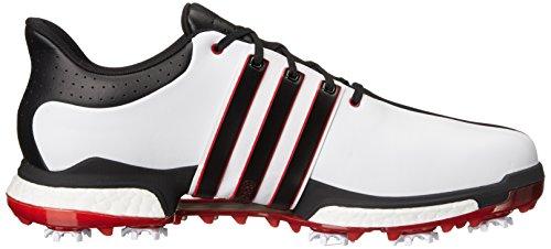 adidas Tour360 Boost-Uomo da Uomo White/Black/Power Red