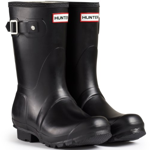 Uomo Hunter Original Short Festival La Neve Impermeabile Wellingtons Stivali Nero