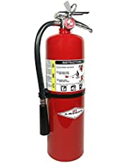 Amerex ABC Dry Chemical Class A B C Multi-Purpose Fire Extinguisher with Wall Bracket, Mobile Deals Sticker Sign and Blank Inspection Tag
