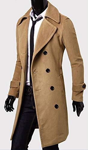 Double Caban Coat Parka Casual Veste Blouson Fit coat Hiver Slim Homme Laine Manteau En Kaki Trench Blazer Long Costume Boutonnage Chaud Bevalsa gPnX8UqTpP