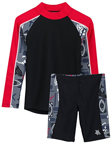 Tuga Boys Two-Piece Long Sleeve Swim Suit Set