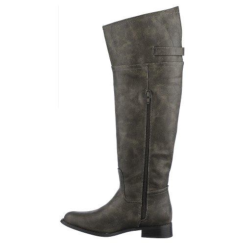 ... Breckelles Womens Rider-82 Boot - Taupe Størrelse 8,5 ...