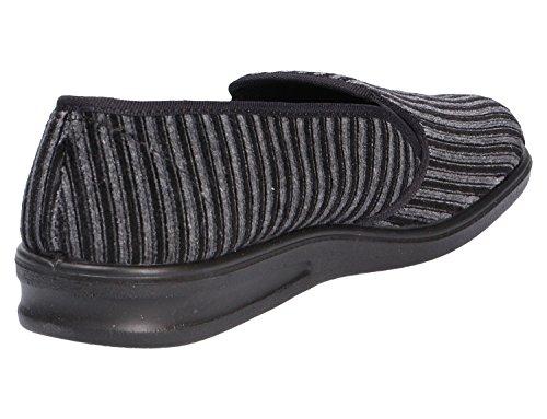 Romika Präsident - Zapatillas de estar por casa de tela para hombre gris