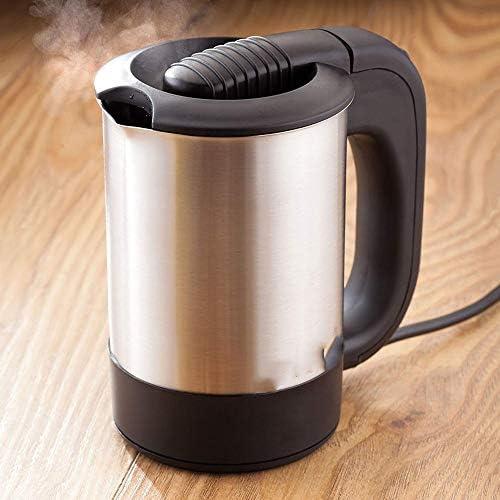 CHENG Wasserkocher, Wasserkocher & Hot Water Dispenser 0.5L Mini Wasserkocher Edelstahl 1000W Tragbare Reise-Heizkessel Pot
