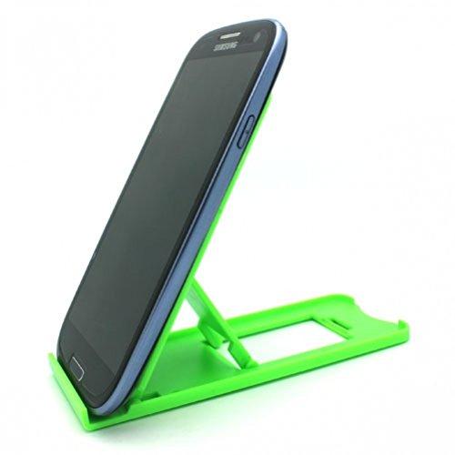 Green Universal Mini Portable Phone Tablet Stand Dock for Samsung Galaxy Tab 7 P1000 - Samsung Galaxy Tab 7.7 - Samsung Galaxy Tab 3 7.0 Kids - Samsung ATIV Tab - Samsung Series 7 Slate (11.6)