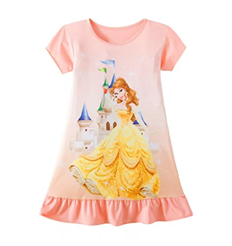 Girls Beauty and the Beast Belle Pyjamas Nightie Night Dress Gown Princess PJS