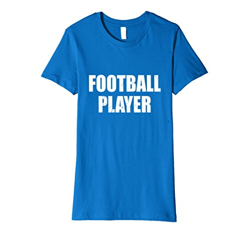 Halloween Costumes Female Football Players (Womens Football Player Halloween Costume Party Cute & Funny T shirt XL Royal Blue)