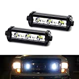 iJDMTOY (2) High Power 3-CREE LED Daytime Running Light Kit For Behind The Grille or Lower Bumper Insert Area, Xenon White