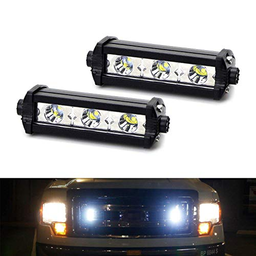 iJDMTOY (2) High Power 3-CREE LED Daytime Running Light Kit For Behind The Grille or Lower Bumper Insert Area, Xenon White (2018 Bmw X5 Grill)