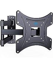 TV-väggfäste, vrid- & lutbart, robust tv-fäste för 13-42 tums TV-apparater, 35 kg viktkapacitet, max VESA 200X200mm, vattenpass, kabelband ingår