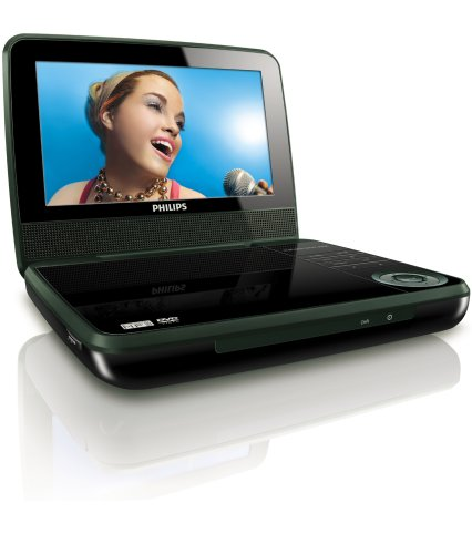 Philips PET741B/37 Portable DVD Player with 7-Inch LCD, Black (2009 Model) (Dvd Portable 7 Player Philips)