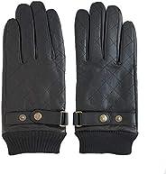 Men's Sheepskin Gloves with Diamond-type Lattice Detailing