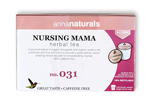 Nursing Tea - Increase Milk Supply With Nursing Mama K-Cups, Keurig or Instant Coffee Brewer Compatible