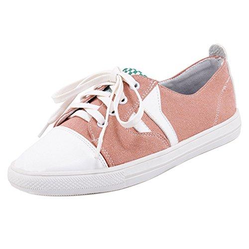 Sneaker Pink RAZAMAZA Zapatos Mujer Cordones EPwSOqp0