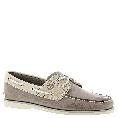 Timberland Men's Classic 2 Eye Boat Shoe, Steeple Grey Chaos/Rainy Day Chaos, 10.5 M US (Timberland 2 Eye)