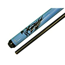 "Aska Pool Cue Stick ADSP Blue , 58"" Length, 13mm Hard Long Lasting Le Pro Tip, Fiberglass Shaft and Butt. Brand New"