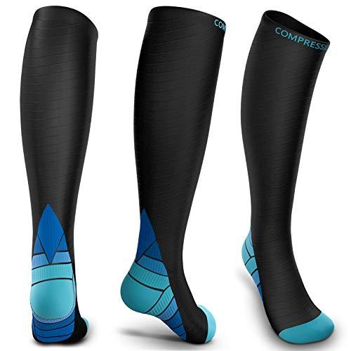 ZetHot Compression Socks for Men & Women (20-30 mmHg) Best Graduated Athletic Fit for Running, Nurses, Shin Splints, Flight Travel & Maternity Pregnancy - Boost Stamina, Circulation & Recovery