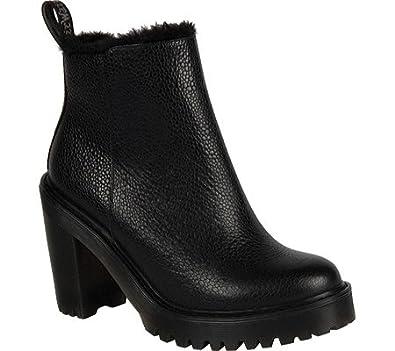 Amazon.com | Dr. Martens Magdalena FL Ankle Zip Boot Black Size UK 5 (7 M  US Women) | Shoes