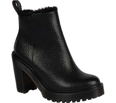 Dr martens magdalena fl ankle zip boot black for Amazon dr martens