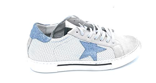 In B5315 Taglia Pelle Camoscio Lacci Scarpa Dreamer 36 E Microforata Tortora Sneakers Azzurro dHBtdvq