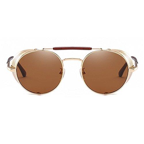 Dames Goggle Métal C3 MEIHAOWEI Gothique Vintage Hommes Soleil Steampunk Lunettes de Cadre 5xZxTAp