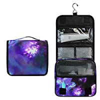 Makeup Bag Galaxy Wolf Toiletry Bag Travel Cosmetic Organizer Waterproof Wash Bag for Men Women