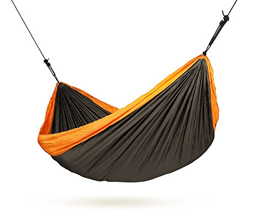 LA SIESTA Colibri Orange - Parachute Silk Double Travel Hammock with Suspension