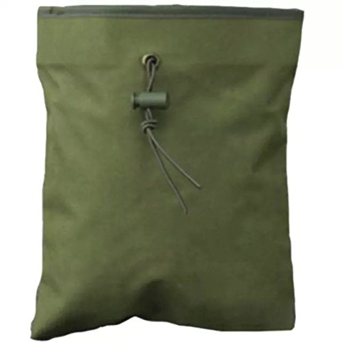 Ezyoutdoor Tactical Large size dump pouch magazine drop pouch for Household Travel Backpacking Camping 28x30cm green color