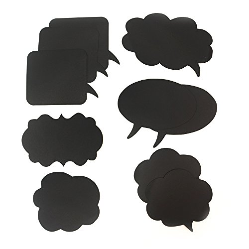 BizoeRade  Photo Booth Props Mini Cardboard Signs With Sticks Mini Blackboards Photography Props Wedding Party Decorations 10pcs