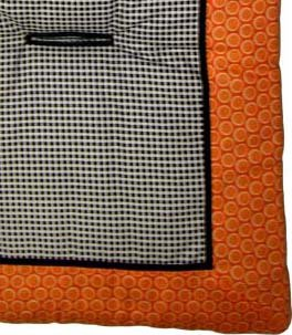 Orange Bubbles Stroller Liner - Made In USA