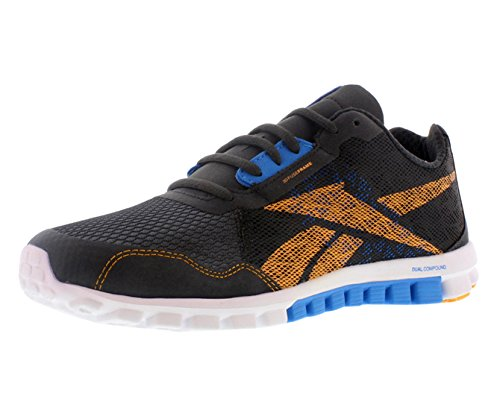 (Reebok Realflex Run 2.0 Men's Running Shoes Size US 12, Regular Width, Color Blue/Orange/Charcoal)