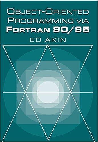 Amazon com: Object-Oriented Programming via Fortran 90/95