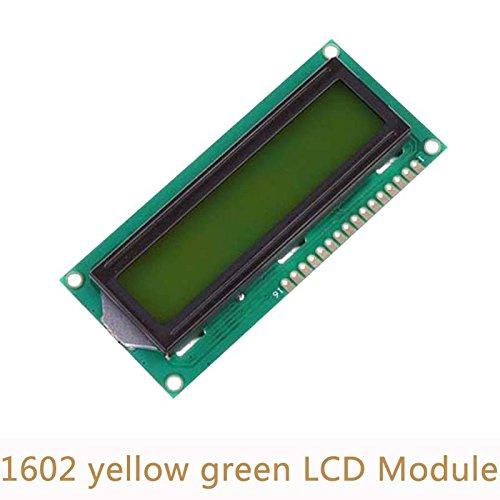 SHAPB 5pcs/lot 5V 1602 LCD Display Module White Character Yellow Green Blacklight for Duemilanove Robot by SHAPB (Image #3)