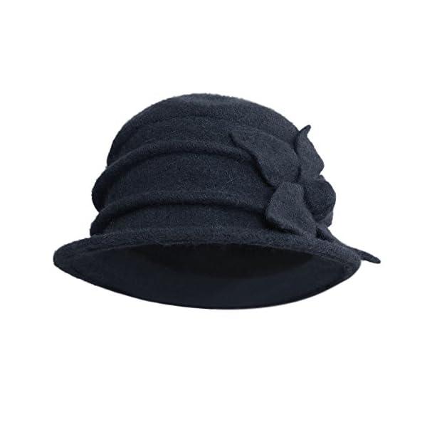 LAEMILIA-Casquette-Beret-Chapeau-Cloche-Femme-Printemps-Fleur-Marguerite-Elgante-Hiver-Laine-Chaud-Douce