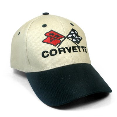 Corvette C3 Logo Beige Black Baseball Hat