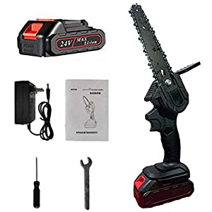 Mini Chainsaw 6-Inch Handheld Cordless Portable Electric Chainsaw Mini 6-inch chainsaw handheld cordless cordless…