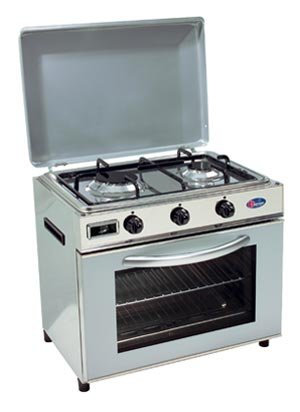 Hornillo a Gas GLP Baby Cocina para exterior Ideal para Camping o jardín Horno y Cocina 2 Fuegos Made in Italy: Amazon.es: Jardín