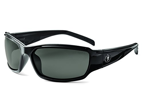 - Ergodyne Skullerz Thor Safety Sunglasses - Black Frame, Smoke Lens