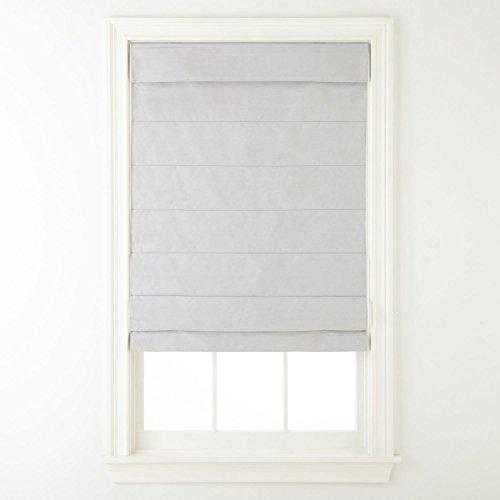 Cordless Fabric Roman Shade Light Gray (Roman Six Light)